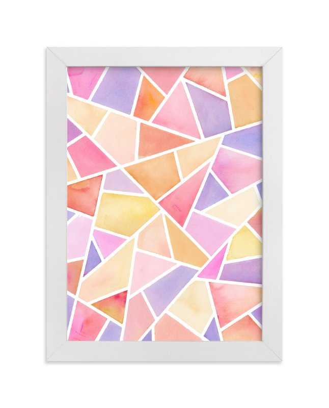 """Fragments: Pink"" - Art Print by sue prue in beautiful frame options and a variety of sizes."