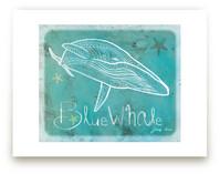 Dot Blue Whale Wall Art Prints