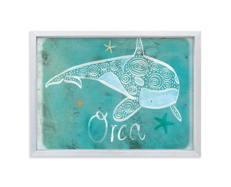 """Dot Orca"" - Art Print by Tracy Ann in beautiful frame options and a variety of sizes."