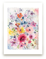 Watercolor Flowers 1 by Susanna Nousiainen