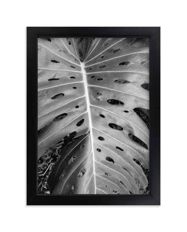 """""""Swiss Cheese Leaf"""" - Art Print by Roopali in beautiful frame options and a variety of sizes."""