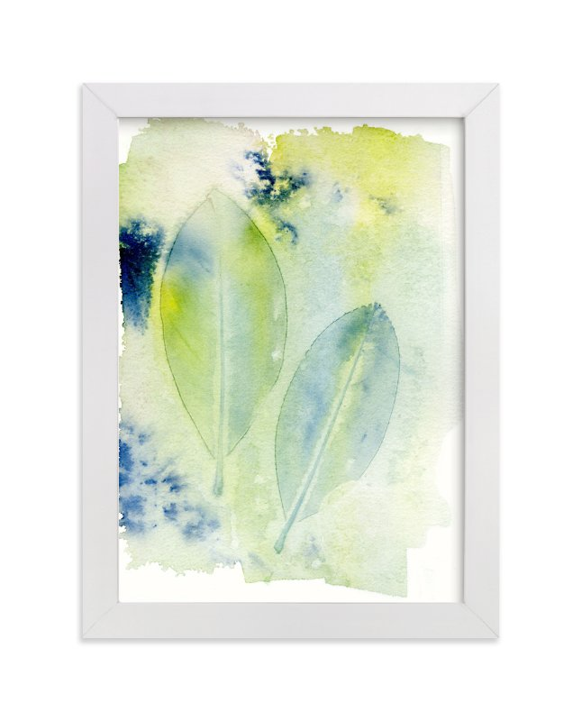 """Dancing Leaves"" - Art Print by Me Amelia in beautiful frame options and a variety of sizes."