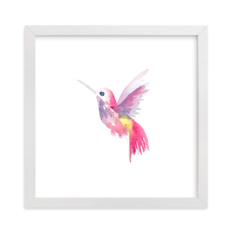 """Hello Hummingbird"" - Art Print by Jocelyn Edin in beautiful frame options and a variety of sizes."