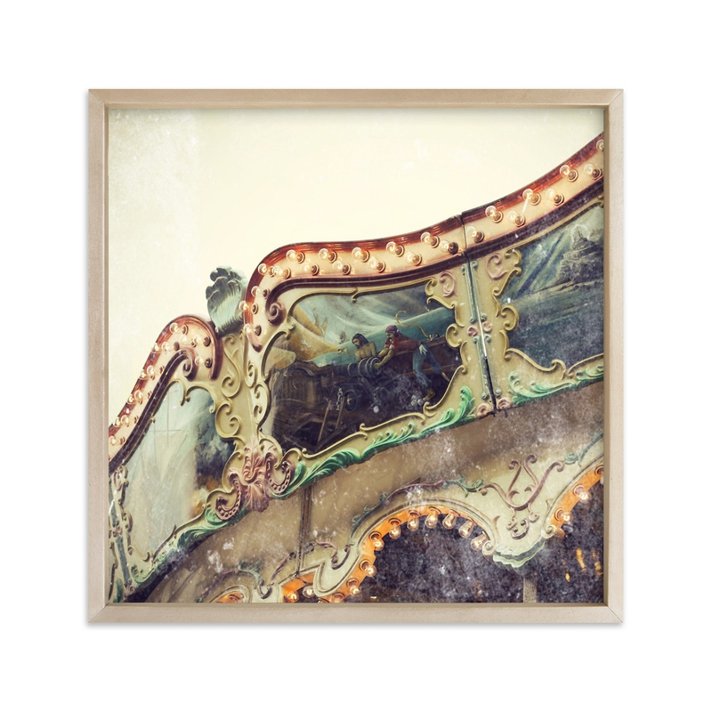 """""""Vintage Carousel"""" - Art Print by Gray Star Design in beautiful frame options and a variety of sizes."""