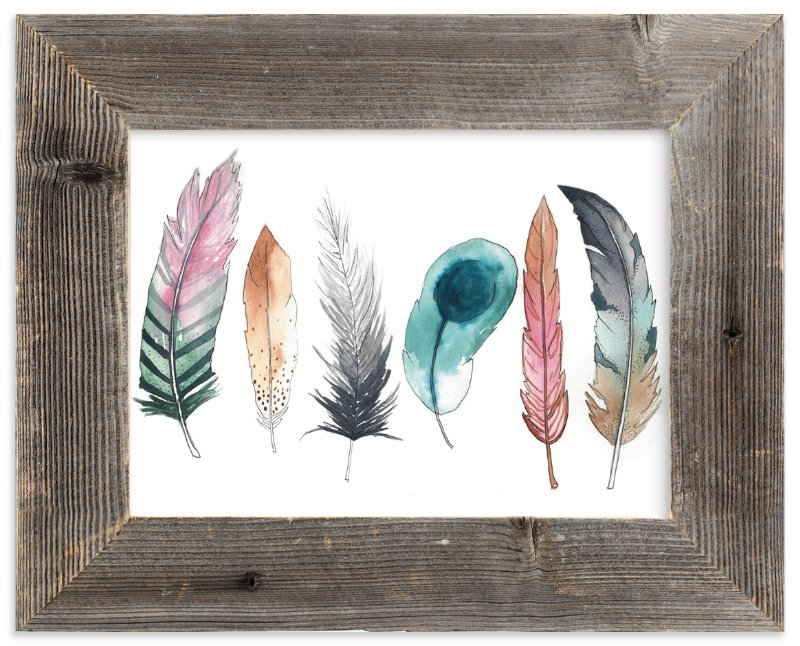 """Feather Fun"" - Art Print by Kelsey McNatt in beautiful frame options and a variety of sizes."