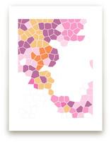 mosaics in pink by jennifer hallock
