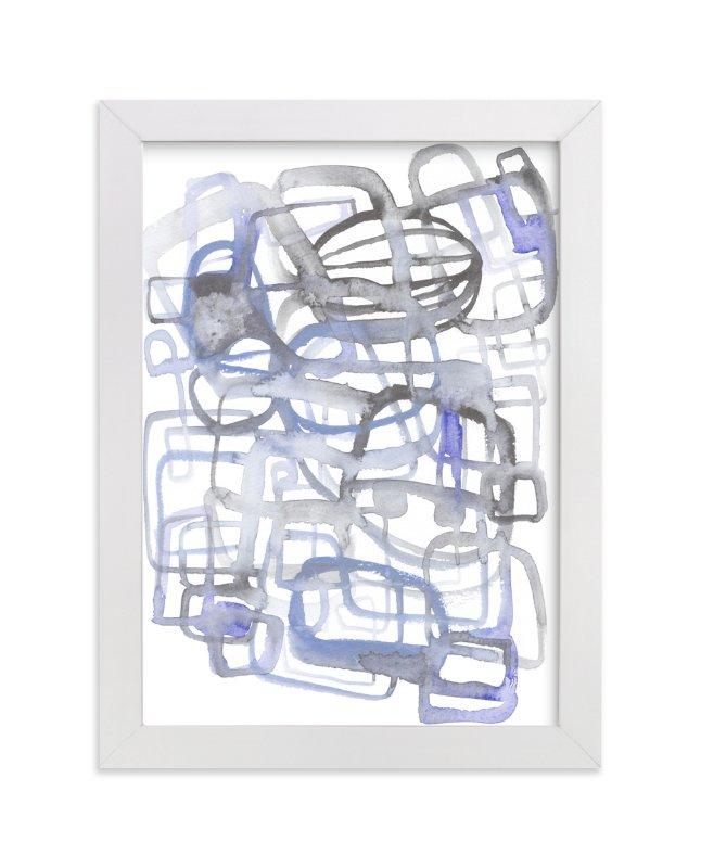 Feeling Blue Wall Art Prints By Kim Johnson