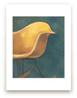 Yellow Eames Rocker by Laura Browning