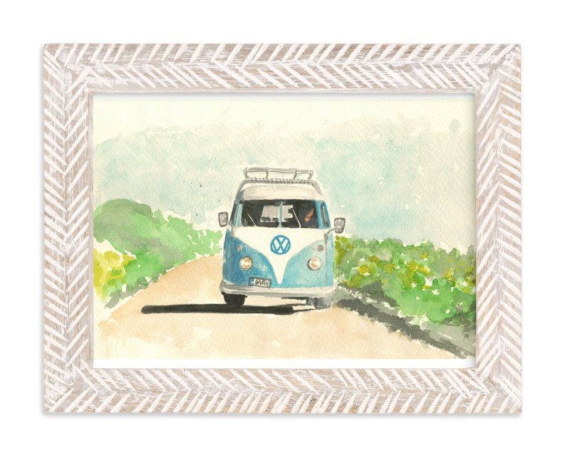 """""""Summer Road Trip"""" - Art Print by Roxanne Fay in beautiful frame options and a variety of sizes."""