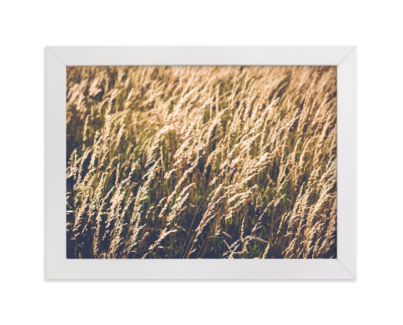 """""""Yellow meadow"""" - Art Print by Lying on the grass in beautiful frame options and a variety of sizes."""