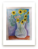 Sweet Sunflowers in a V... by Amber Bartek