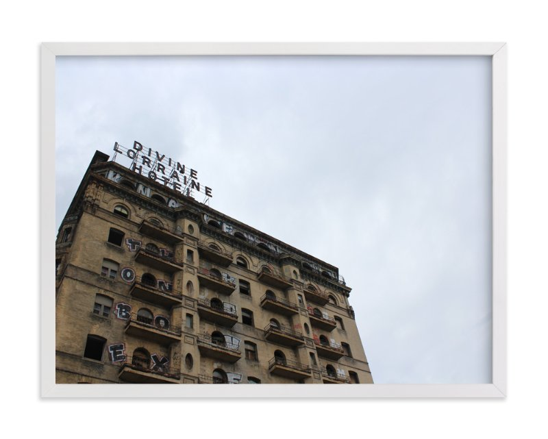 """""""Divine Lorraine Hotel"""" - Art Print by Kate Binns in beautiful frame options and a variety of sizes."""