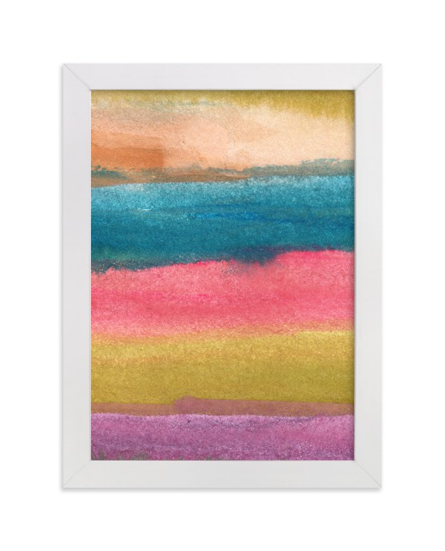 """""""watercolor abstract painting stripes2"""" - Art Print by Ramoncita Rallos in beautiful frame options and a variety of sizes."""