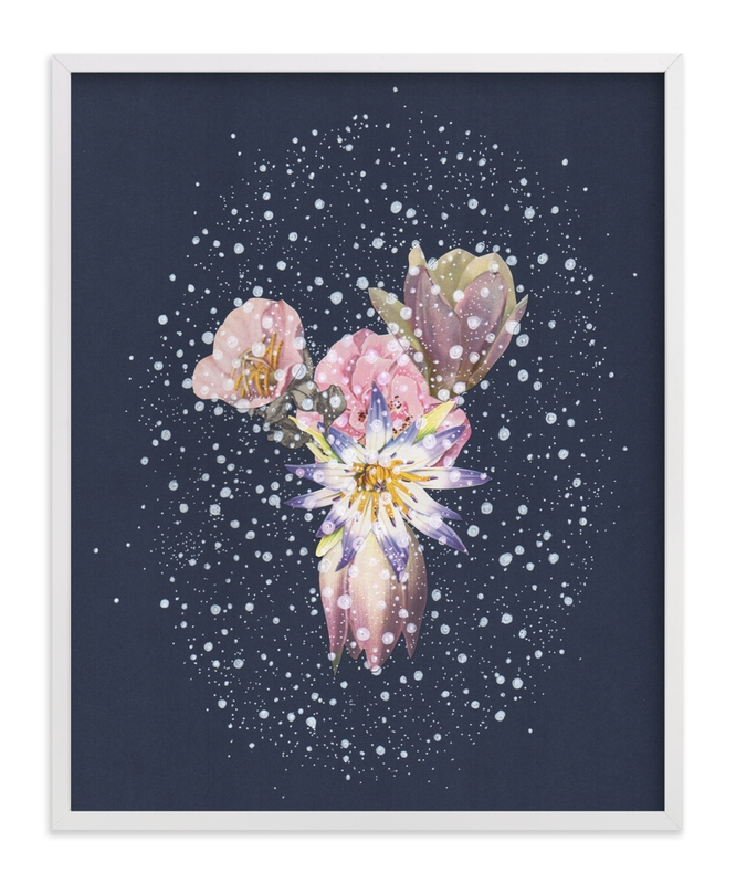 """""""Night Secret"""" - Art Print by Jenny Brown in beautiful frame options and a variety of sizes."""