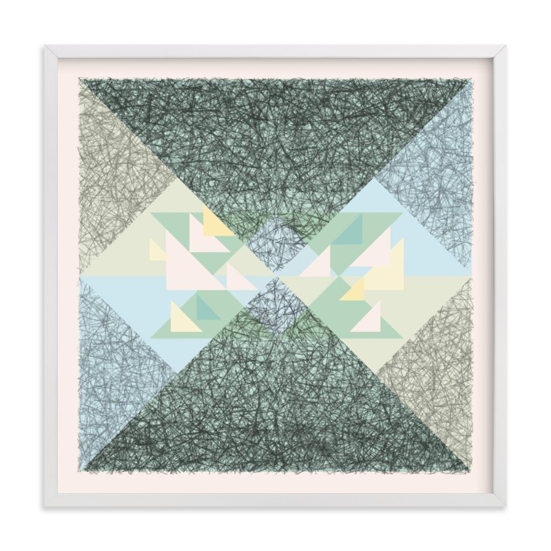 Scribble Triangle Marketplace Art Print
