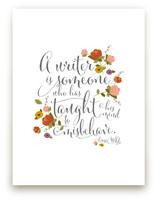 A writer is... by Kellie Medivitz