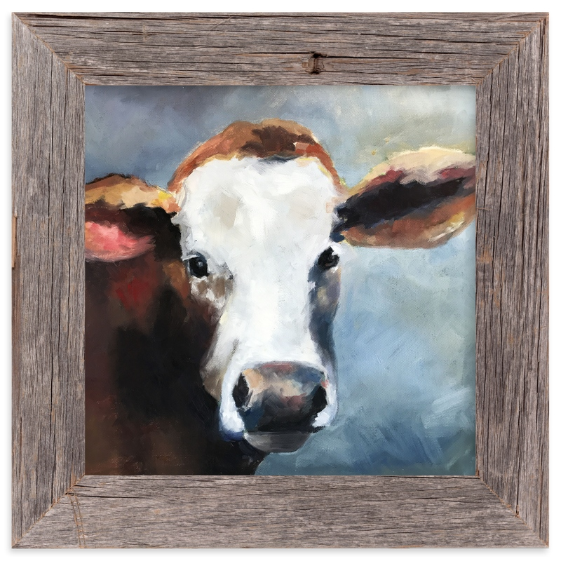 """""""Young Calf"""" - Art Print by Amanda Phelps in beautiful frame options and a variety of sizes."""