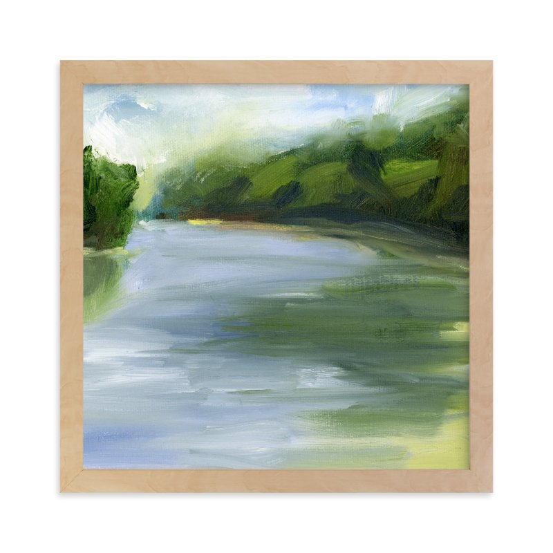 """Pond Reflections"" - Art Print by Lindsay Megahed in beautiful frame options and a variety of sizes."