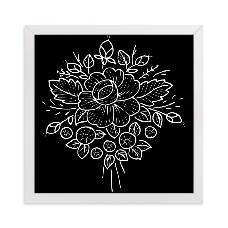 """""""botanical flower"""" - Art Print by aticnomar in beautiful frame options and a variety of sizes."""