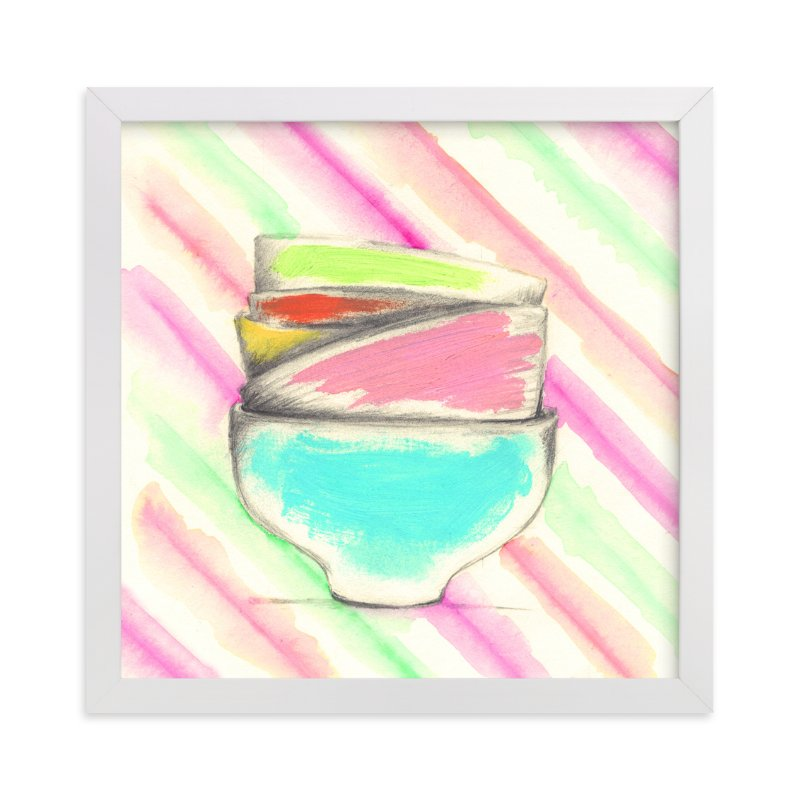 """""""Candy Bowls"""" - Art Print by Sonal Nathwani in beautiful frame options and a variety of sizes."""