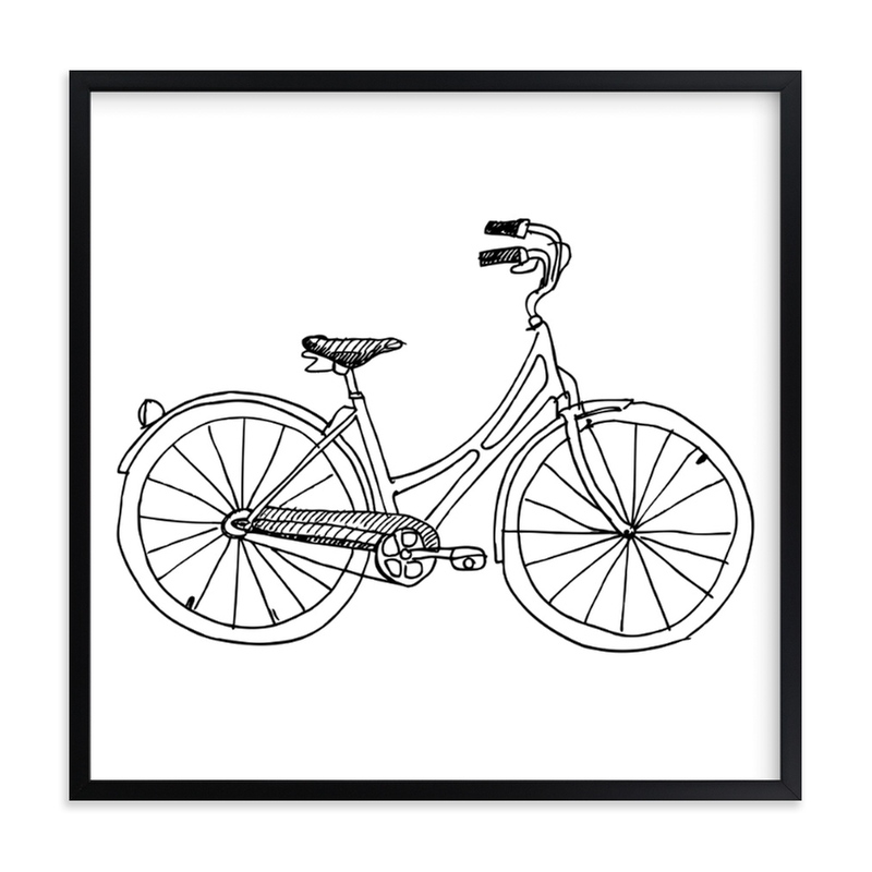 """bicycle"" - Art Print by Phrosne Ras in beautiful frame options and a variety of sizes."