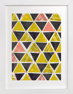 Tribal Triangles  Art Print