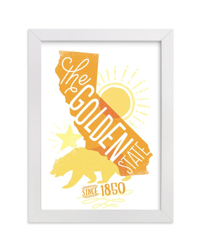 """""""The Golden State"""" - Art Print by Jessie Steury in beautiful frame options and a variety of sizes."""