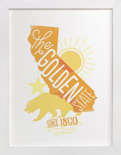 The Golden State  Art Print