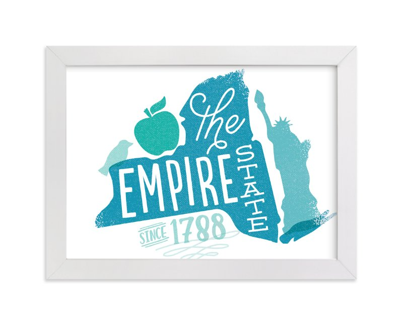 """""""The Empire State"""" - Art Print by Jessie Steury in beautiful frame options and a variety of sizes."""