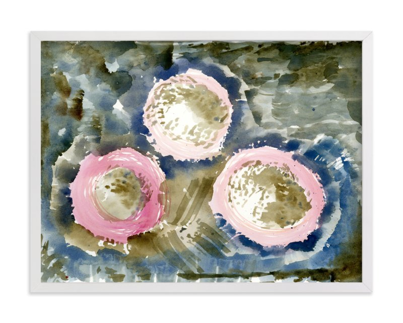"""""""SMOKEY BLOOMS"""" - Art Print by Me Amelia in beautiful frame options and a variety of sizes."""