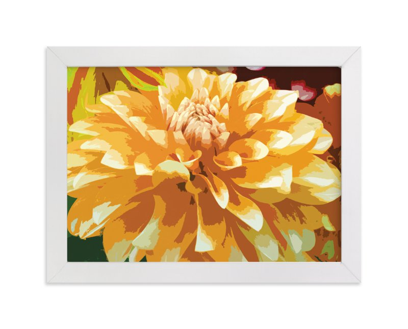"""""""Color My Dahlia"""" - Art Print by A Maz Designs in beautiful frame options and a variety of sizes."""