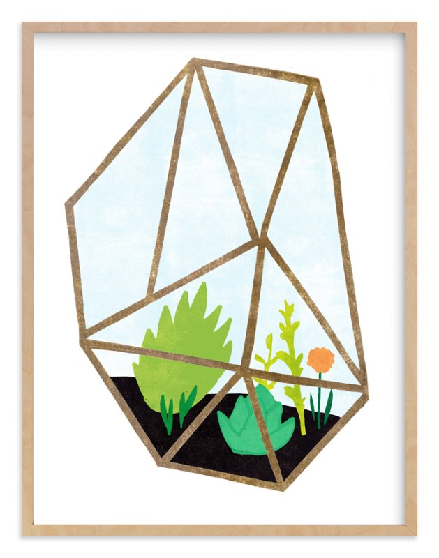 """""""Terrarium 2"""" - Art Print by Kelly Nasuta in beautiful frame options and a variety of sizes."""