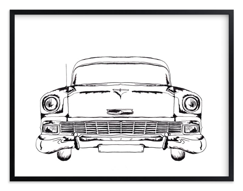 """""""Inked Classic"""" - Art Print by Erin Niehenke in beautiful frame options and a variety of sizes."""