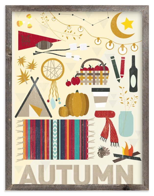 """""""4 Seasons : Autumn"""" - Art Print by Kate Capone in beautiful frame options and a variety of sizes."""