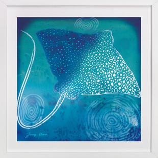 Stingray Manta Ray  Art Print