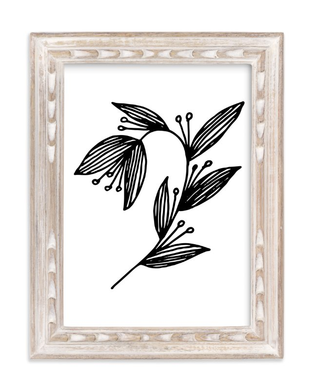 """""""Doodle Arc Leaves"""" - Art Print by aticnomar in beautiful frame options and a variety of sizes."""