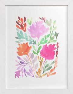 hand painted flowers_1  Art Print