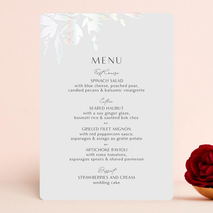 """Wedding veil"" - Gloss-press™ Menus in Pearl by Chris Griffith."