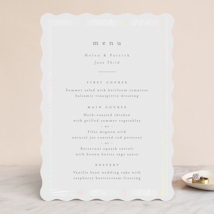 """Lineup"" - Gloss-press™ Menus in Sheen by Annie Shapiro."