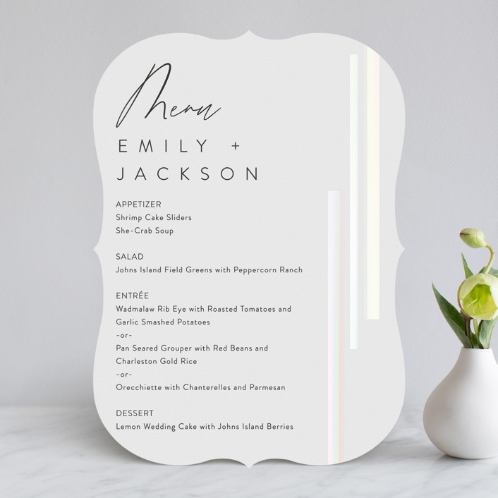 """""""City View"""" - Gloss-press™ Menus in Snow by Erika Firm."""