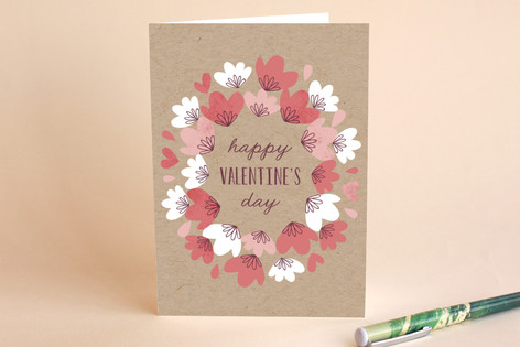 Valentine's Wreath Greeting Cards