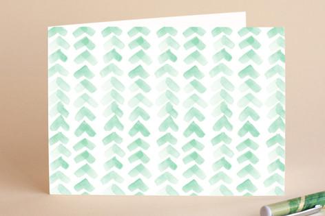 Chevron Mint Greeting Cards