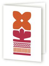 Orange Nordic Flower A7 Card