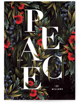 This is a black met by Angela Marzuki called Garden Peace with standard printing on signature in standard.
