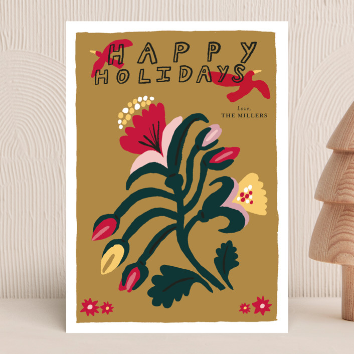 """""""Winter Flower"""" - The Met Holiday Cards in Golden by Elliot Stokes."""