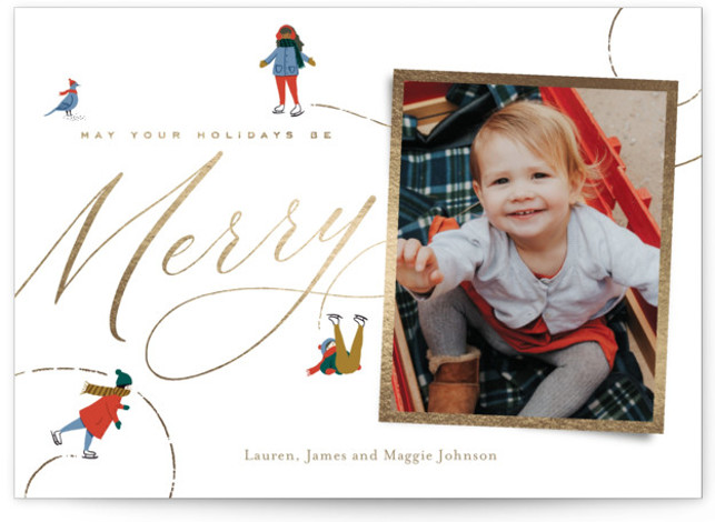 Winter Pastimes The Met Foil-Pressed Holiday Cards