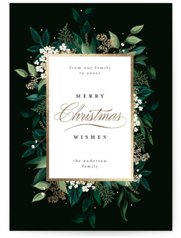 Emerald Vines The Met Foil-Pressed Holiday Cards