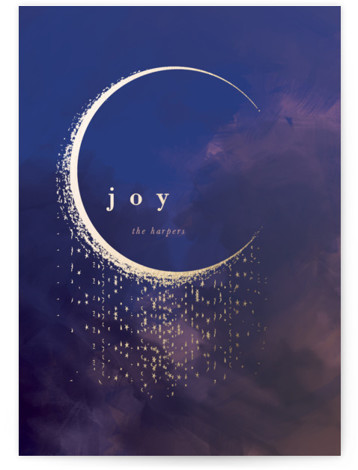 Moon The Met Foil-Pressed Holiday Cards