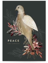 This is a black met by Petra Kern called The Messenger of Peace with foil-pressed printing on signature in standard.