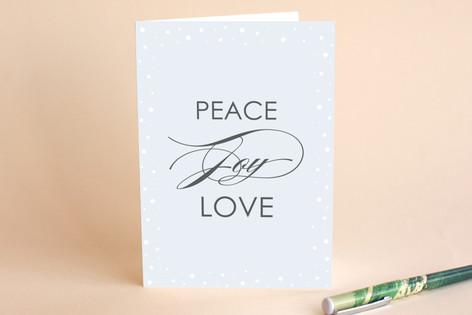 Peace Joy Love Holiday Holiday Cards